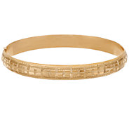 EternaGold 8-1/4 Basket Weave Bangle 14K Gold, 8.4g - J324074
