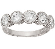 Judith Ripka 2.5 cttw Diamonique 5-Stone Ring - J324374