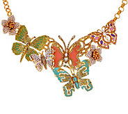As Is Joan Rivers Lt. Ed. Butterfly Statement Necklace - J328874