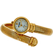 As Is Joan Rivers Tubogas Coiled Wrap Watch - J329874