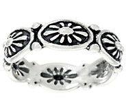 Sterling Silver Concha Design Band Ring by American West - J330474