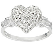 Angel Wing Heart Diamond Ring, Sterling, 1/8 cttw, by Affinity - J330574