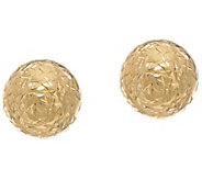 14K Gold 8mm Diamond Cut Ball Stud Earrings - J331274