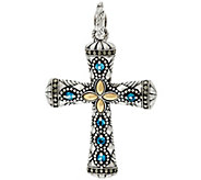 JAI Sterling & 14K India Collection Gemstone Cross Enhancer - J332774
