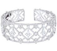 Judith Ripka Sterling 8.40 cttw Diamonique Cuff Bracelet - J333574