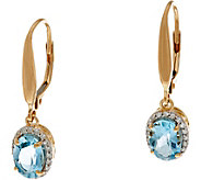 Santa Maria Aquamarine & Diamond Earrings, 14K, 1.20 cttw - J335374