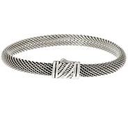 JAI Sterling Silver Mesh Bracelet w/ Sukhothai Clasp - J346474