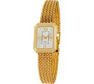 As Is Vicence Large Rectangle Case Bracelet Watch 14K Gold, 39.5g - J346574