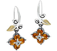 Barbara Bixby Sterling & 18K Lotus Gemstone Drop Earrings - J347474