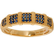 Judith Ripka 14K Gold 0.30 cttw Pave Sapphire Band Ring - J348174