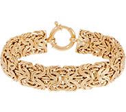 14K Gold 7-1/4 Bold Byzantine Bracelet, 13.0g - J355074