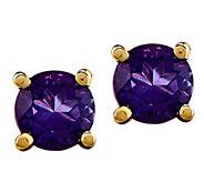 14K Semi-Precious Round Gemstone St ud Earrings - J376974