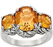 Sterling Round & Cushion Cut Gemstone Ring - J378174