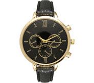 Olivia Pratt Womens Leather Band Stainless Steel Watch - J380474