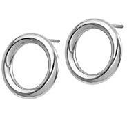 14K Gold Polished Petite Circle Post Earrings - J381674