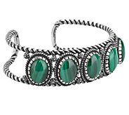 American West Sterling Malachite Cuff Bracelet - J383174