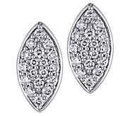 Affinity 14K 1/3 cttw Diamond Cluster MarquiseStud Earrings - J383674