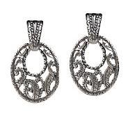 Carolyn Pollack Silver Rodeo Sterling Dangle Earrings - J155475