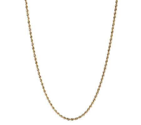 "17"" Twisted Rope Chain Necklace 14K Gold, 1.4g"