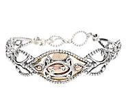 As Is Carolyn Pollack Opulence Mixed Metal Bracelet - J263275