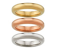 Oro Nuovo Set of 3 Silk Fit Stack Rings 14K - J268675