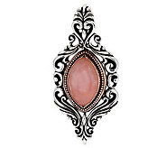 Carolyn Pollack Rose or Smoky Quartz Sterling/Bronze Enhancer - J279175