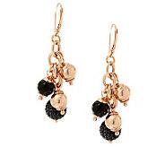 VicenzaSilver Sterling 9.00 cttw Black Spinel Charm Dangle Earrings - J286575