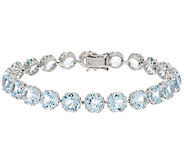 100-Facet Gemstone 7-1/4 Sterling Tennis Bracelet 22.00 ct tw - J286975