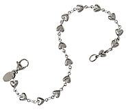 Stainless Steel Heart Strand Line Bracelet - J293375