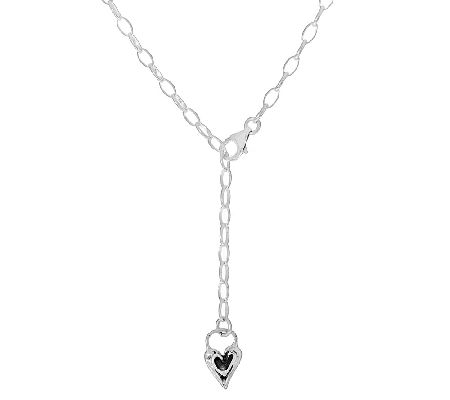 Hagit Sterling Signature Chain w/Heart Drop