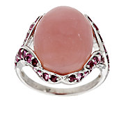 Pink Opal & 1.00 ct tw Pink Tourmaline Sterling Ring - J294375