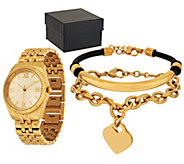 Stainless Steel Watch and Bracelet Set Boxed - J297075