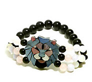 Lee Sands Lion Inlay Stretch Bracelet - J302775