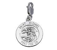 Sterling Silver Saint Michael Medal Charm - J303675