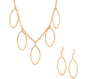 Linea by Louis DellOlio Leaf Necklace and Earring Set - J325475