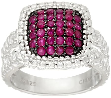 0.50 cttw Precious Pave' Gemstone Sterling Ring