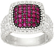 0.50 cttw Precious Pave Gemstone Sterling Silver Ring - J326575