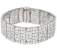 Judith Ripka Sterling 43.35 cttw Diamonique 8-1/4 Bracelet - J327375