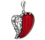 Carolyn Pollack With Love Sterling Carved Heart Enhancer - J329275
