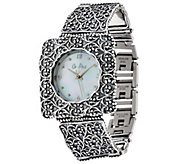 Sterling Silver Square Face Watch by Or Paz 35.0g - J330175