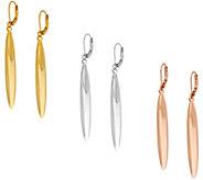 As Is Joan Rivers Set of 3 Polished Linear Lever Back Earrings - J330675