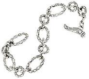 JAI Sterling Croco Texture Link Bracelet - J332775