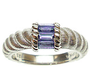 Judith Ripka Sterling Silver and Tanzanite Ring - J339975