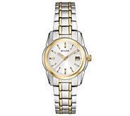 Bulova Womens Two-tone Stainless Steel Bracelet Watch - J343575