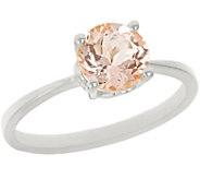 1.00 ct Round Morganite Ring, 14K Gold - J343875