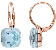 10.50 cttw Sky Blue Topaz Earrings, 14K Rose Gold - J344075