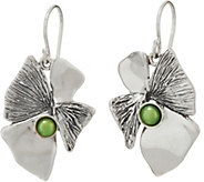 Hagit Sterling Silver Lotus Flower w/ Pearl Earrings - J347575