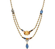 LOGO Links by Lori Goldstein Bead Double Row Chain Necklace - J348975