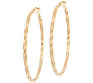 Bronze 2 Twisted Round Hoop Earrings by Bronzo Italia - J349375
