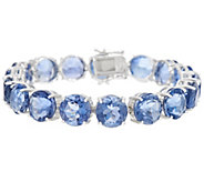 78.00 cttw Color Changing Fluorite 8 Bracelet, Sterling - J349575